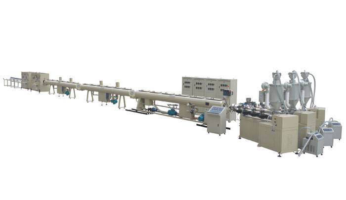 PPR 3-la<x>yer glassfiber reinforced pipe extrusion line